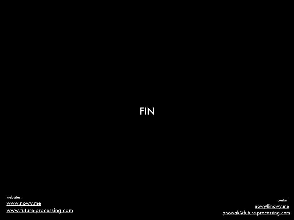 FIN www.nowy.me nowy@nowy.me contact: websites:...