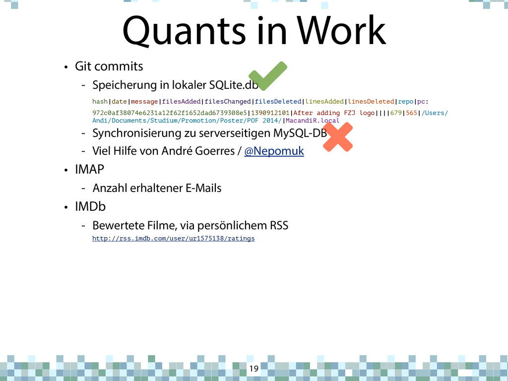 Quants in Work 19 • Git commits - Speicherung i...