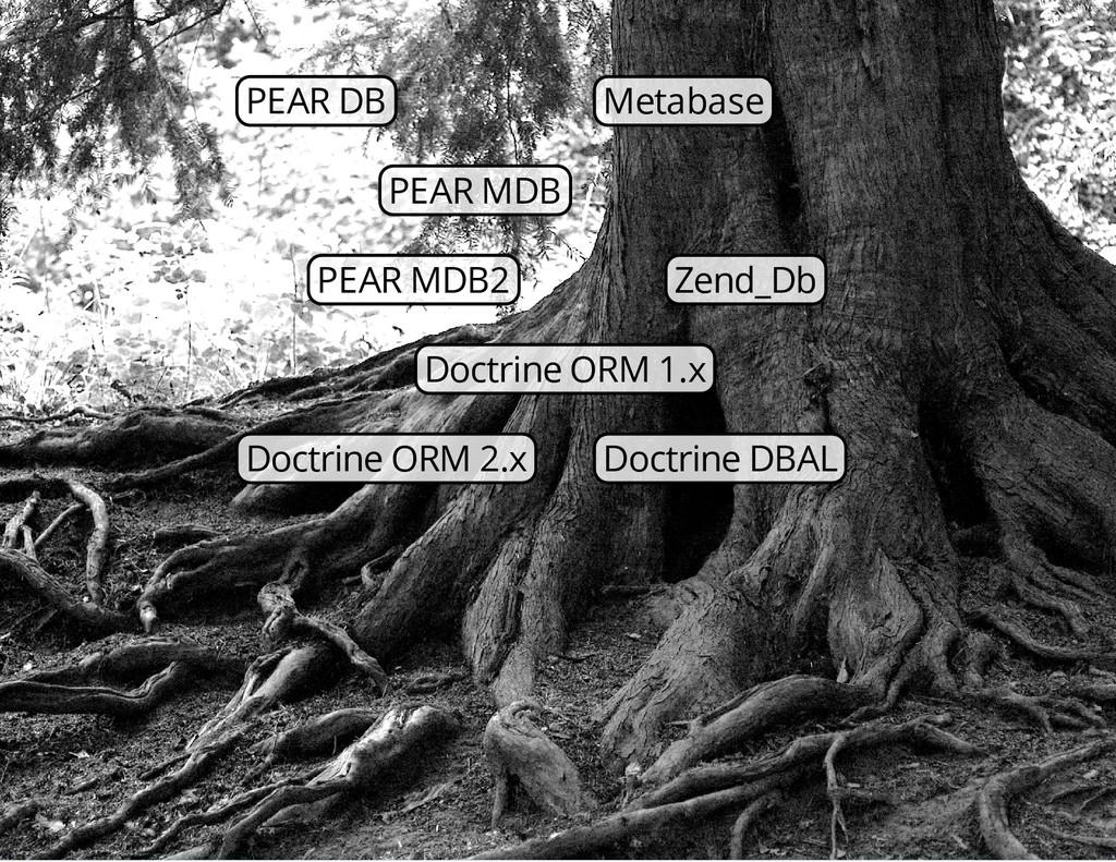 PEAR DB Metabase PEAR MDB PEAR MDB2 Zend_Db Doc...