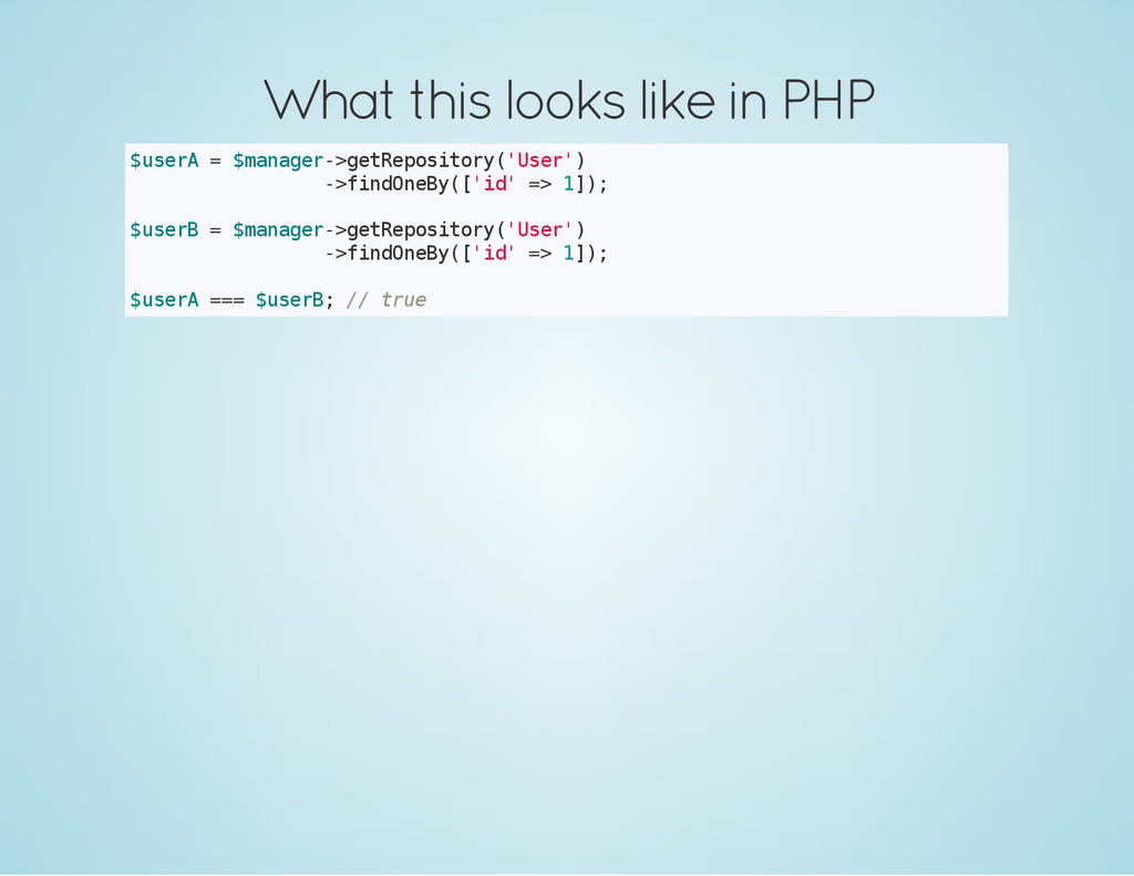 What this looks like in PHP $ u s e r A = $ m a...