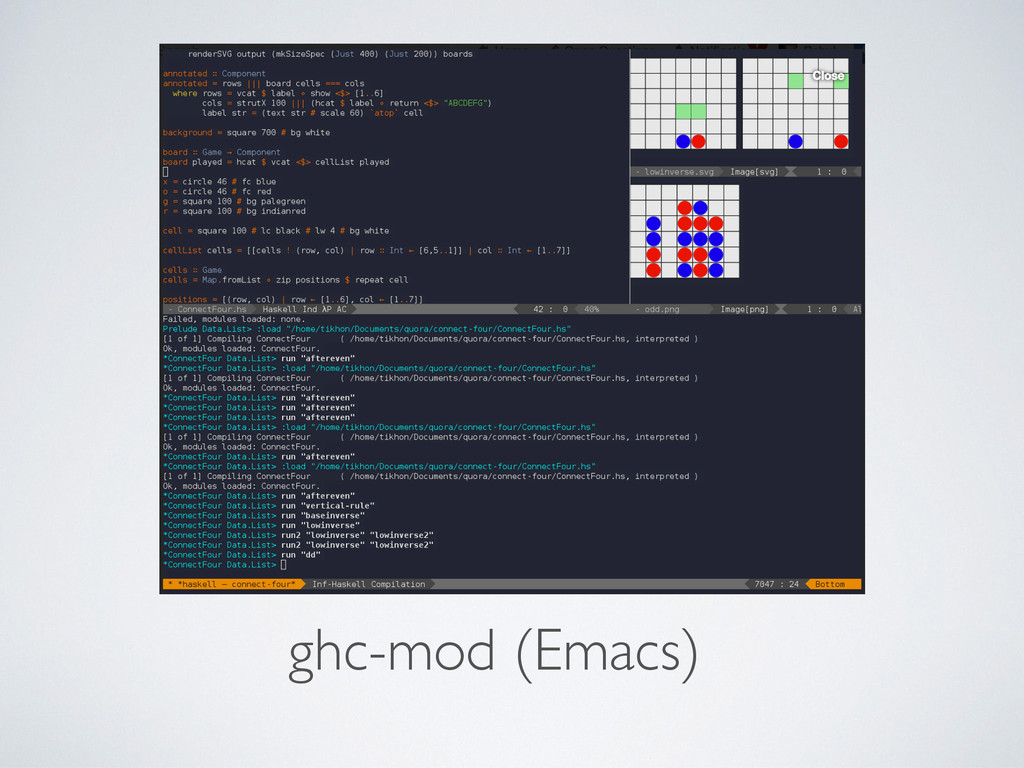 Tooling ghc-mod (Emacs)