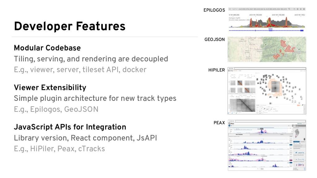 Developer Features Modular Codebase Tiling, ser...