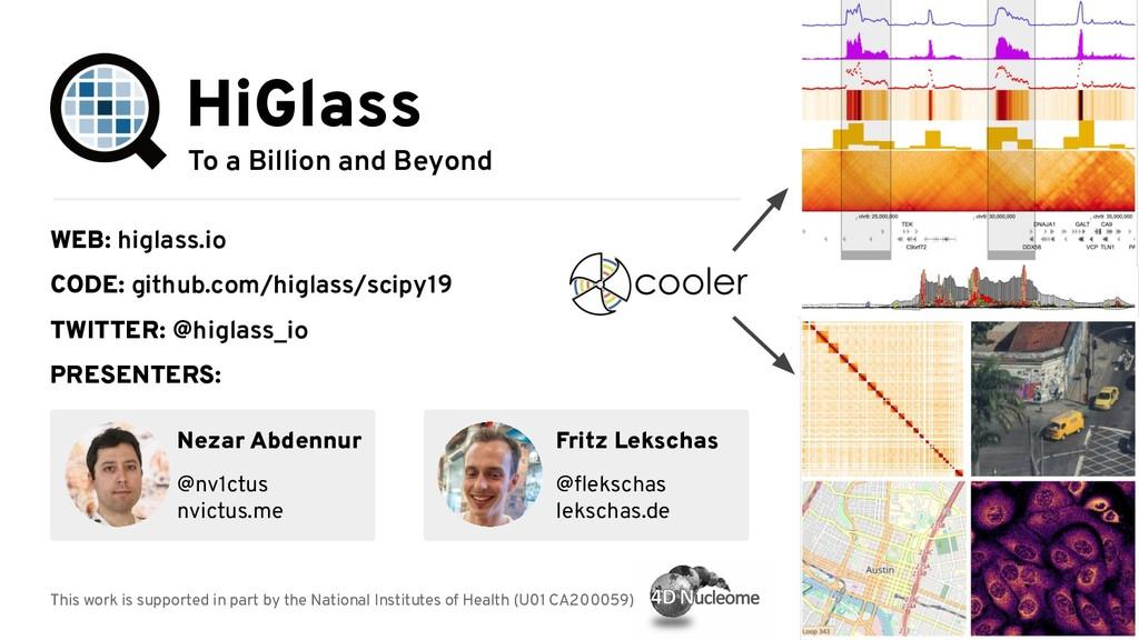 To a Billion and Beyond HiGlass WEB: higlass.io...