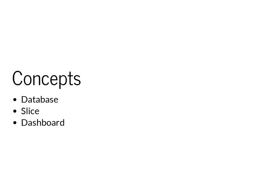 Concepts Database Slice Dashboard
