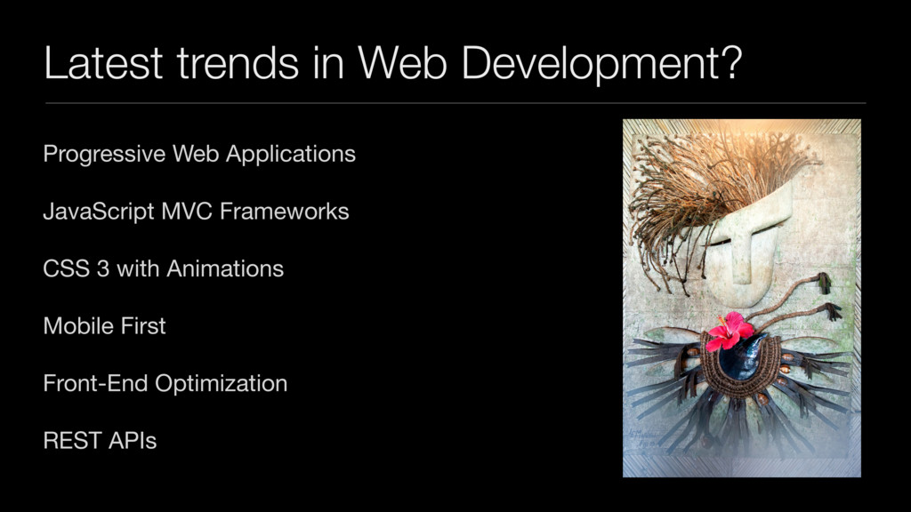 Latest trends in Web Development? Progressive W...