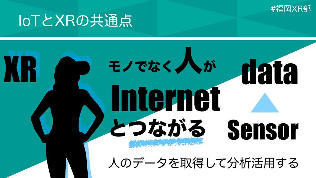 XR XR ϞϊͰͳ͘ ਓ͕ Internet ͱͭͳ͕Δ data Sensor *P5ͱ9...