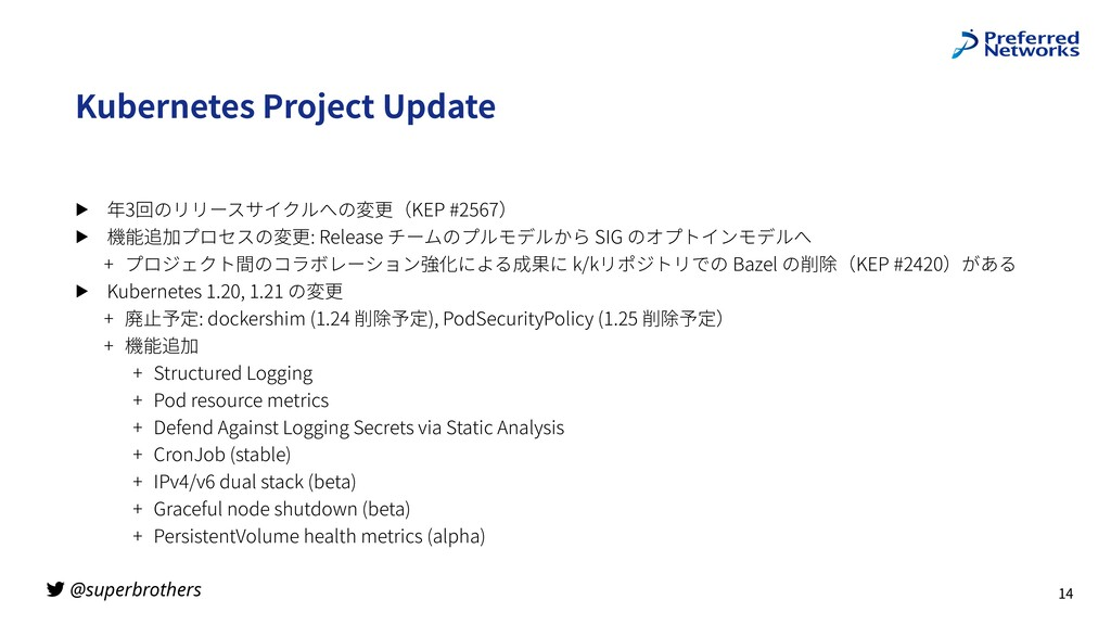@superbrothers Kubernetes Project Update ▶ 年3回の...