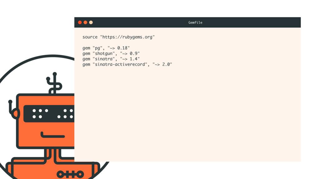 "source ""https://rubygems.org"" gem ""pg"", ""~> 0.1..."