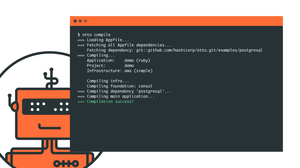 $ otto compile ==> Loading Appfile... ==> Fetch...