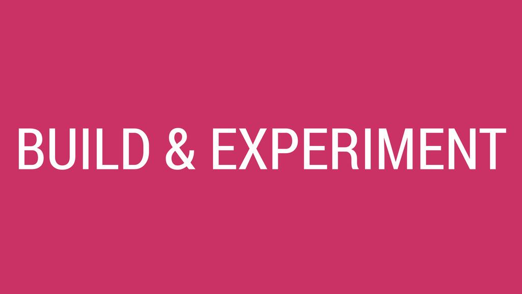 BUILD & EXPERIMENT