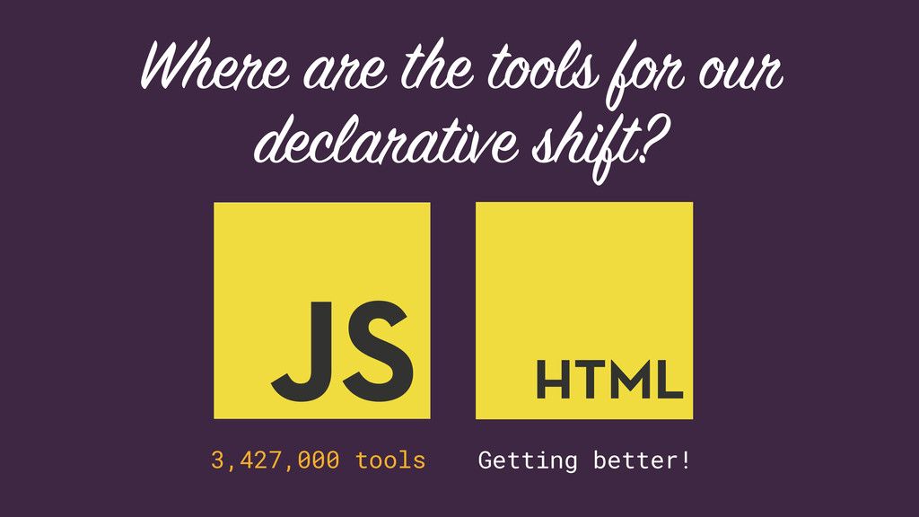 Where are the tools for our declarative shift? ...