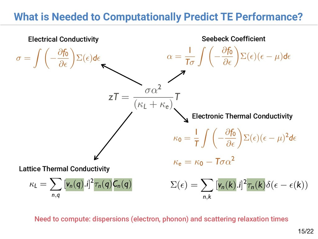 What is Needed to Computationally Predict TE Pe...
