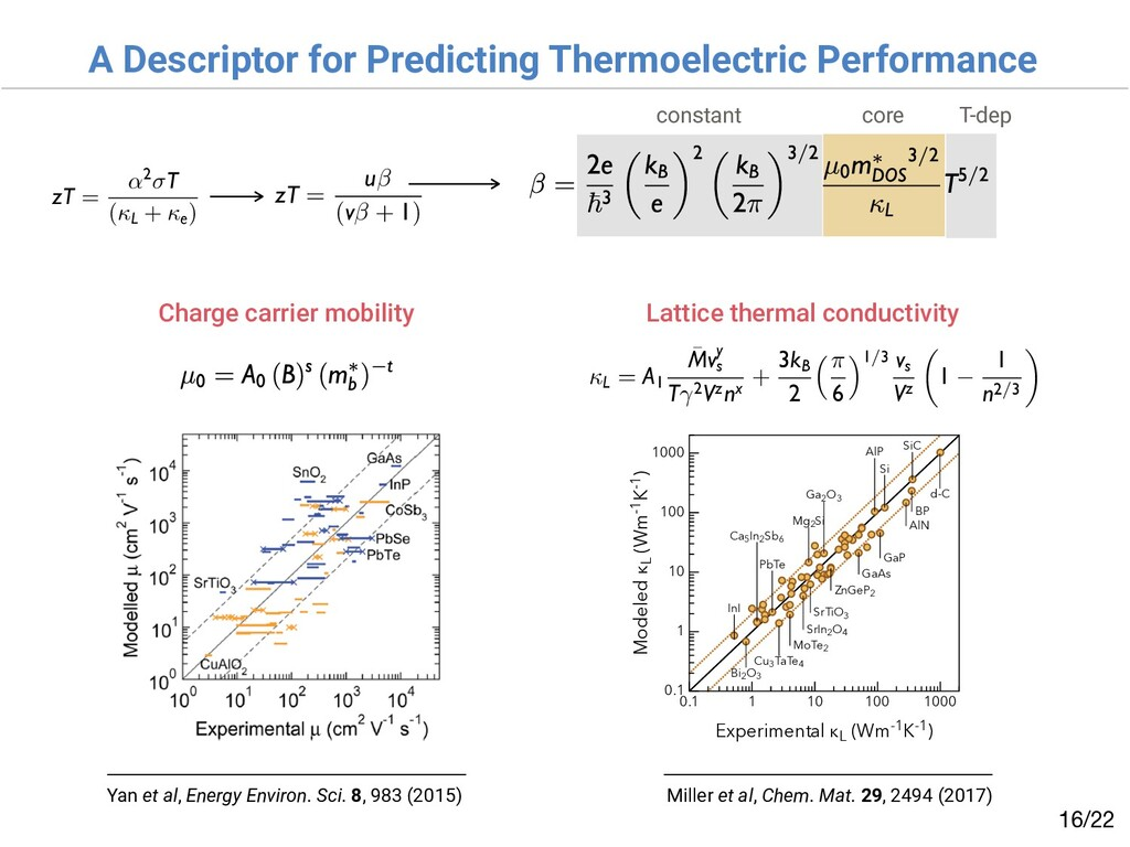 A Descriptor for Predicting Thermoelectric Perf...