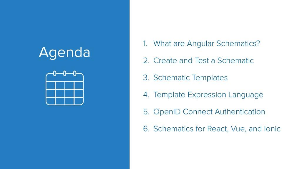 Agenda 1. What are Angular Schematics? 2. Creat...