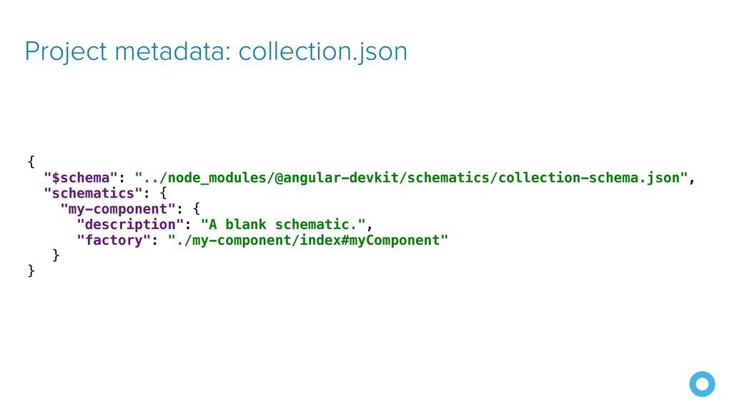 "Project metadata: collection.json { ""$schema"": ..."