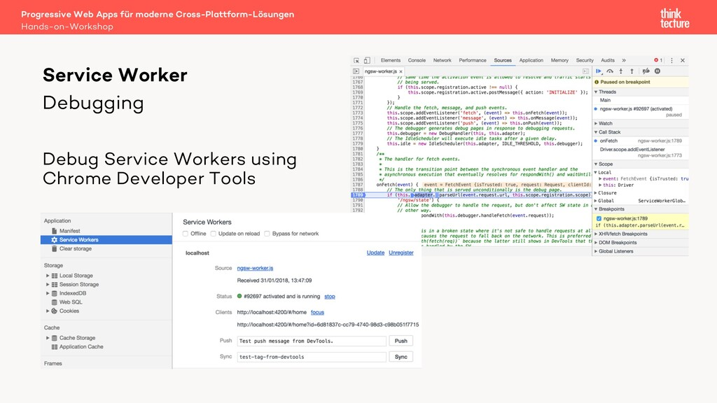 Debugging Debug Service Workers using Chrome De...