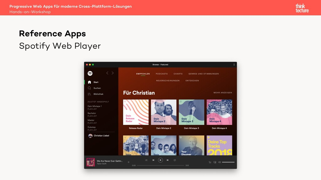 Spotify Web Player Progressive Web Apps für mod...