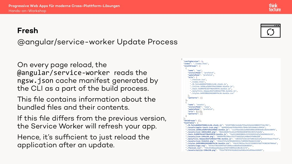 @angular/service-worker Update Process On every...