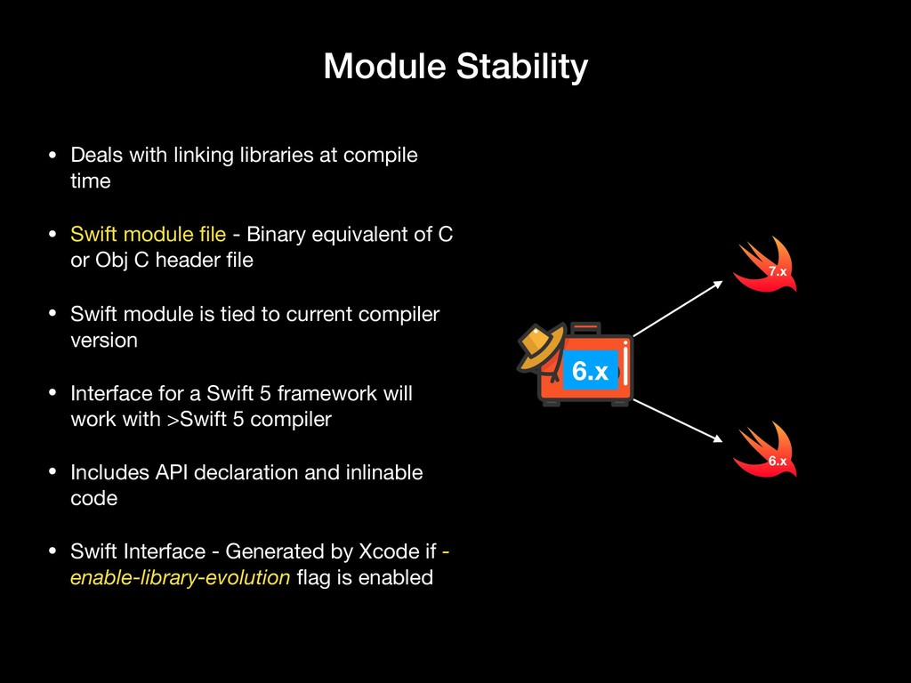 Module Stability • Deals with linking libraries...