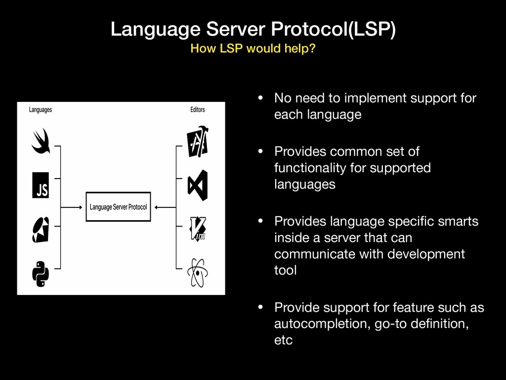 Language Server Protocol(LSP) How LSP would hel...