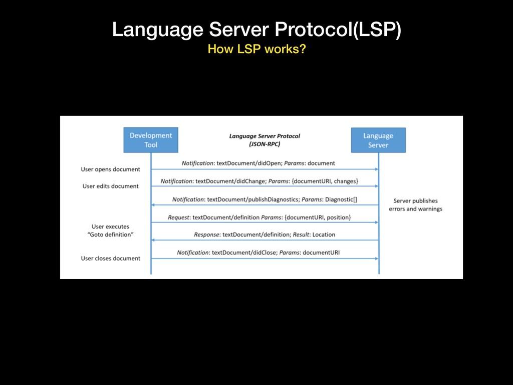 Language Server Protocol(LSP) How LSP works?