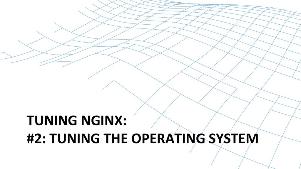 TUNING NGINX:  #2: TUNING THE OP...