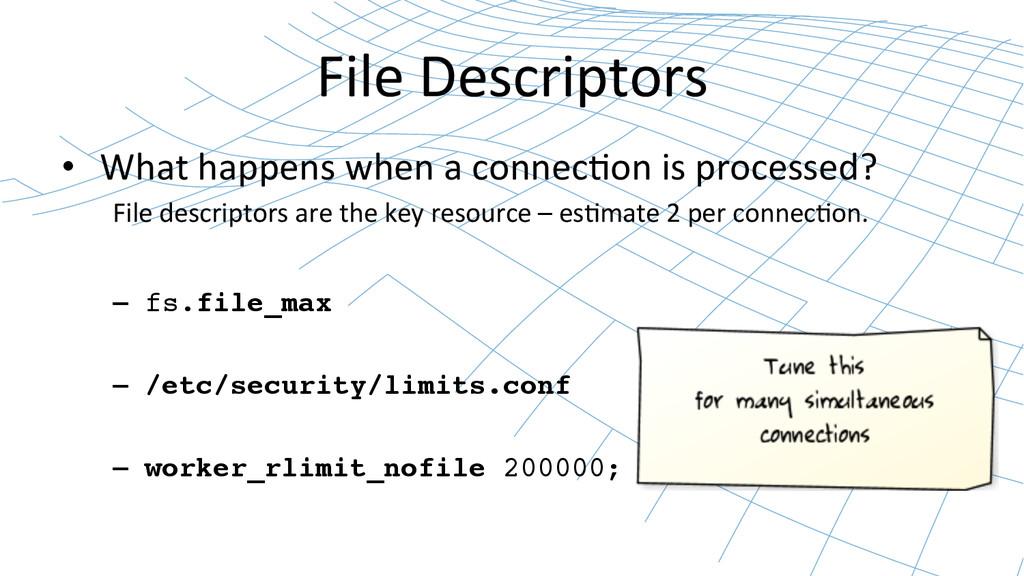File Descriptors  • What happens w...