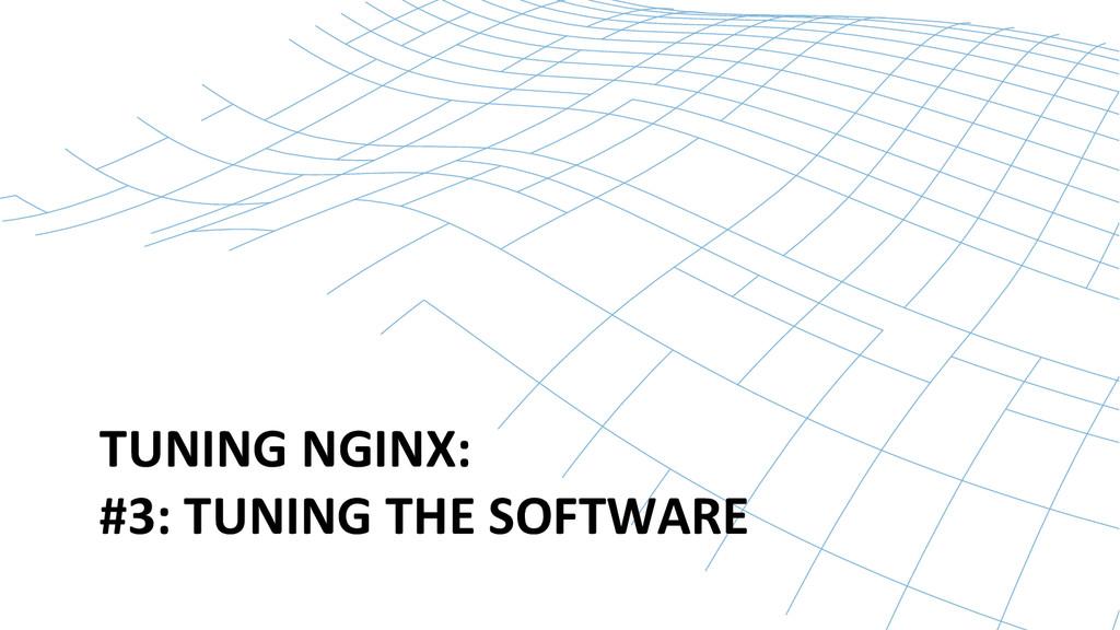 TUNING NGINX:  #3: TUNING THE SO...