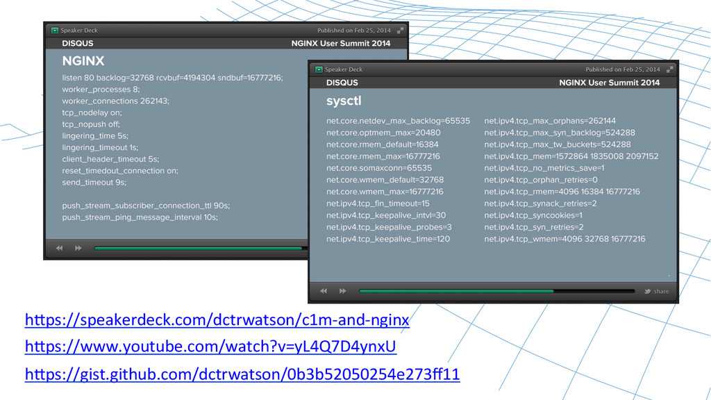 h`ps://speakerdeck.com/dctrwatson/c1m-‐and-‐n...