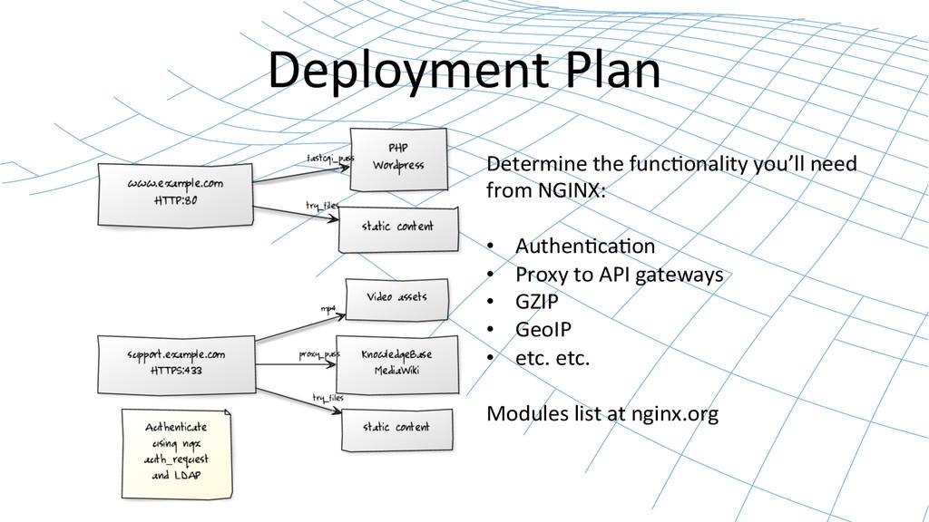 Deployment Plan  Determine the func...