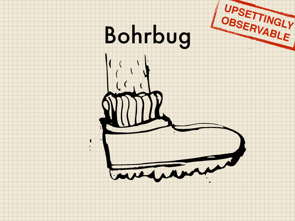 Bohrbug UPSETTINGLY OBSERVABLE