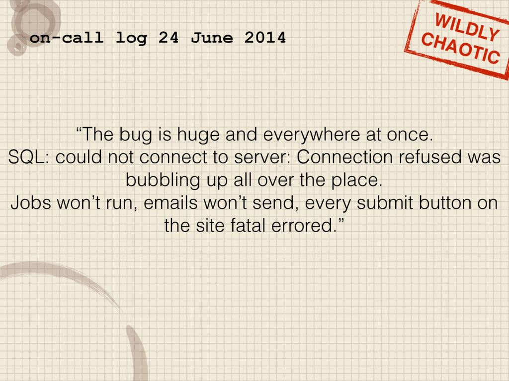 """The bug is huge and everywhere at once. SQL: c..."