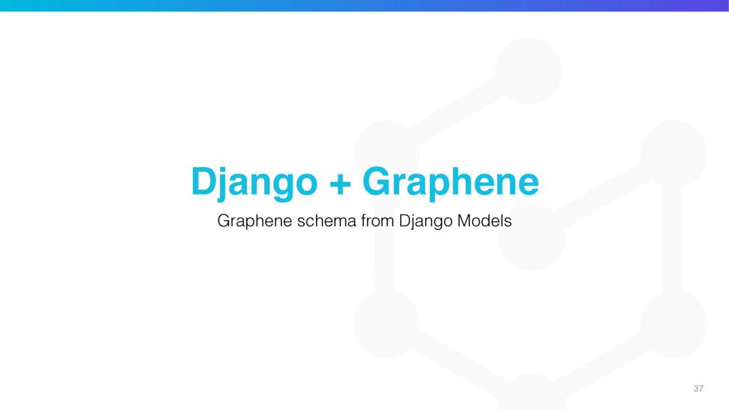 37 Django + Graphene Graphene schema from Djang...