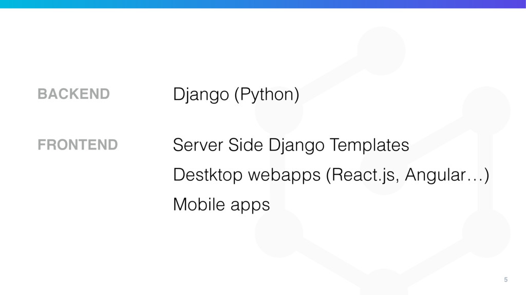 5 Django (Python) BACKEND Server Side Django Te...
