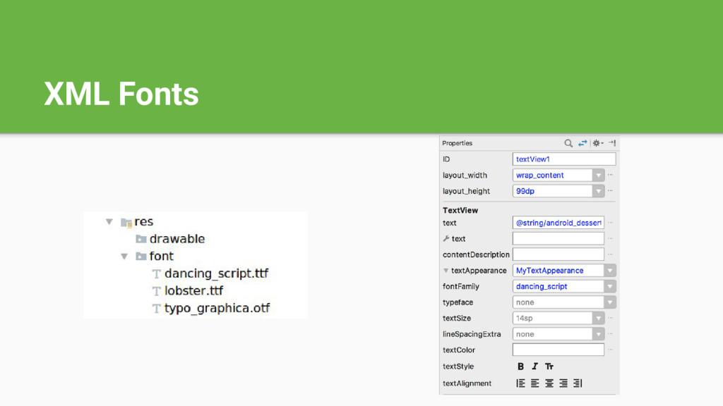 XML Fonts
