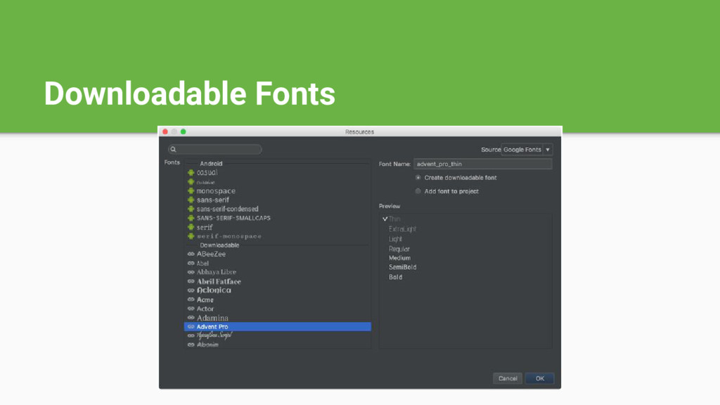 Downloadable Fonts