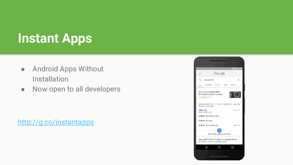 Instant Apps ● Android Apps Without Installatio...