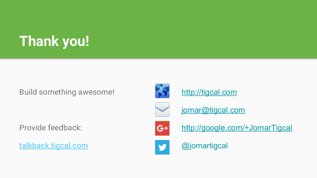 Thank you! Build something awesome! Provide fee...