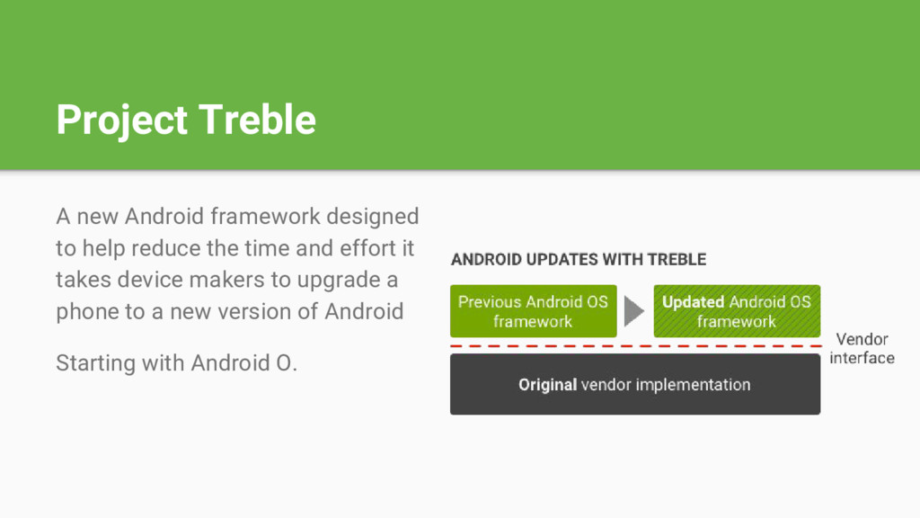 Project Treble A new Android framework designed...