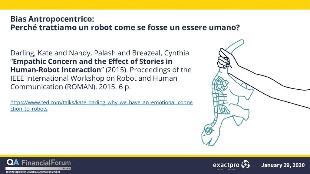 Bias Antropocentrico: Perché trattiamo un robot...