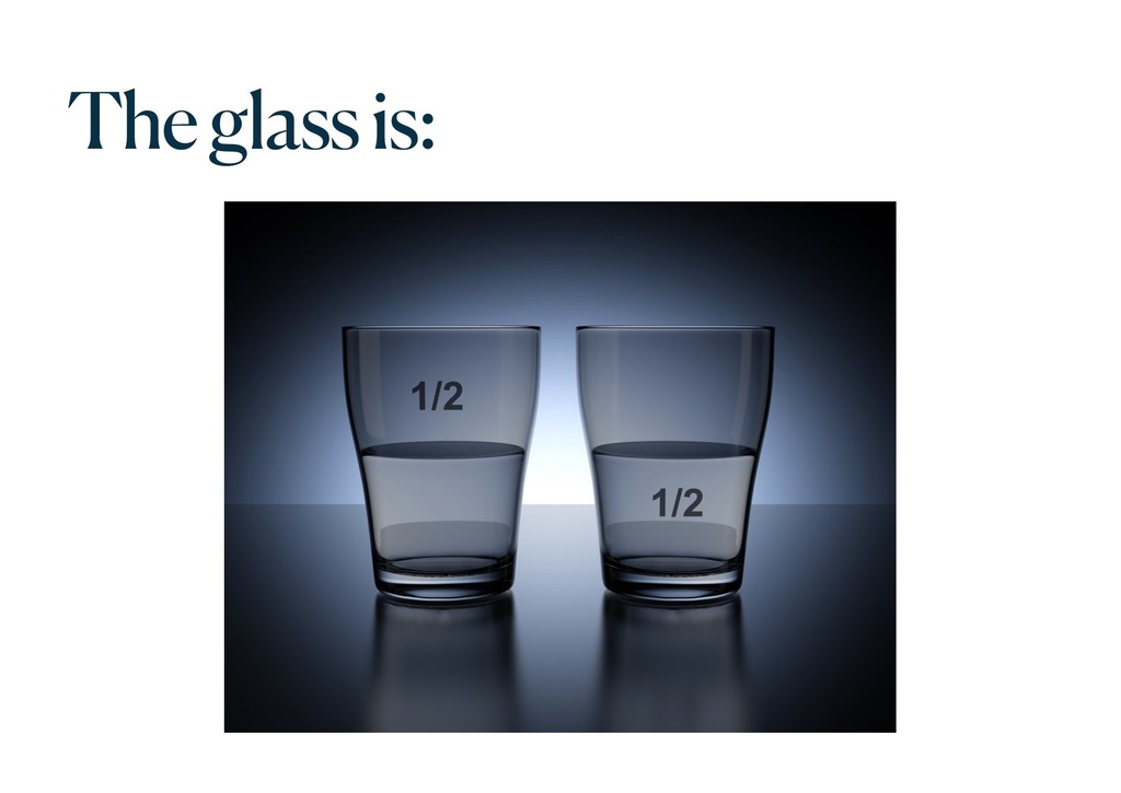 The glass is:
