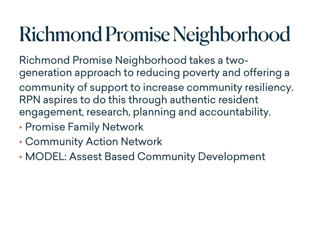Richmond Promise Neighborhood Richmond Promise ...