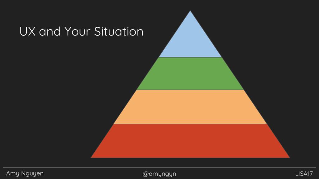 Amy Nguyen @amyngyn LISA17 UX and Your Situation