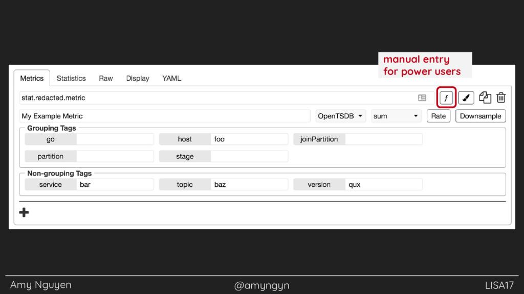 Amy Nguyen @amyngyn LISA17 manual entry for pow...