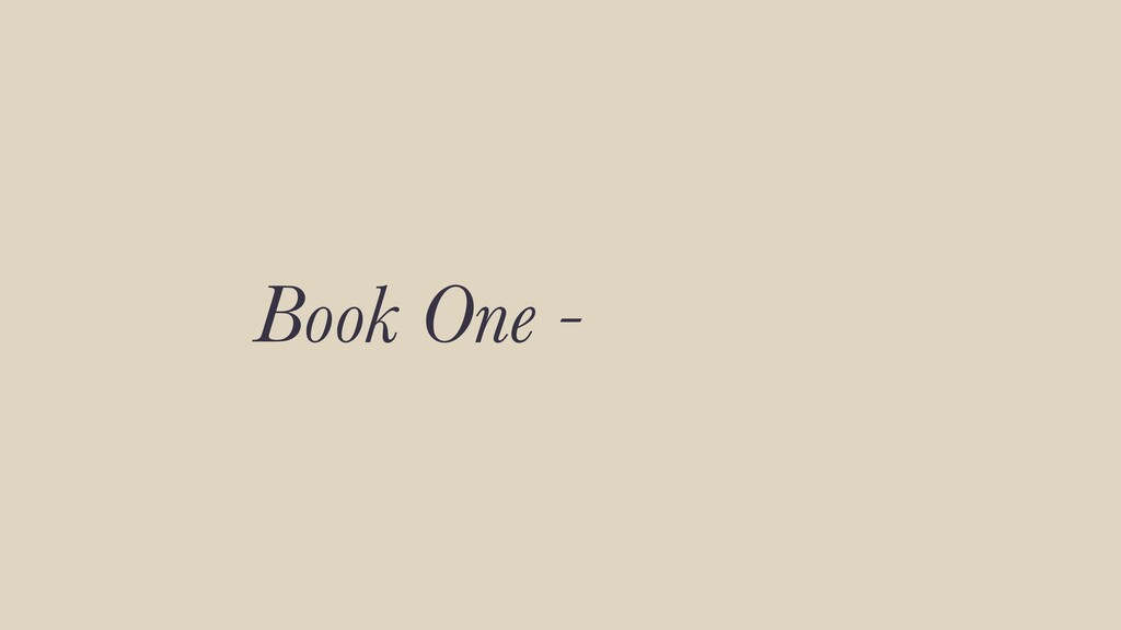 Book One -