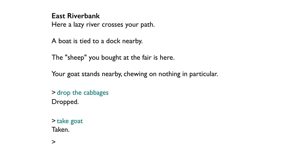 East Riverbank Here a lazy river crosses your p...