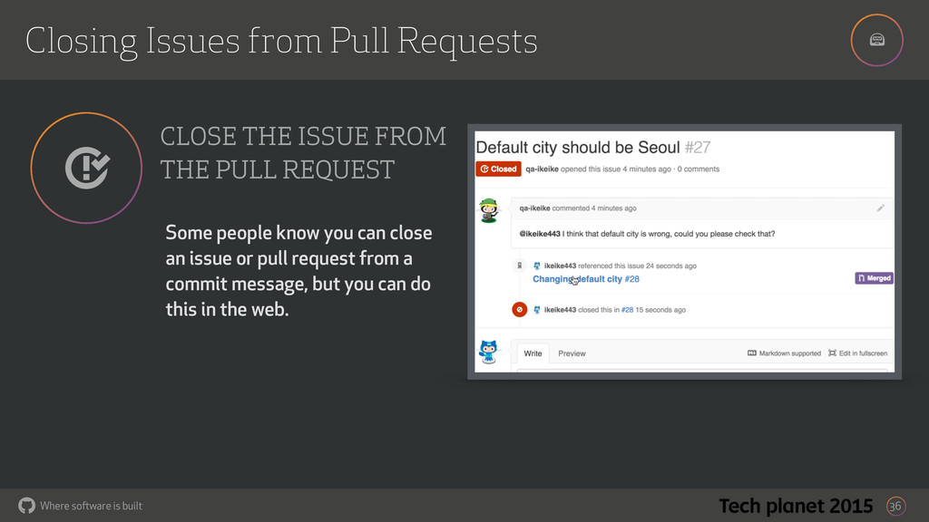 ! Where software is built Closing Issues from P...