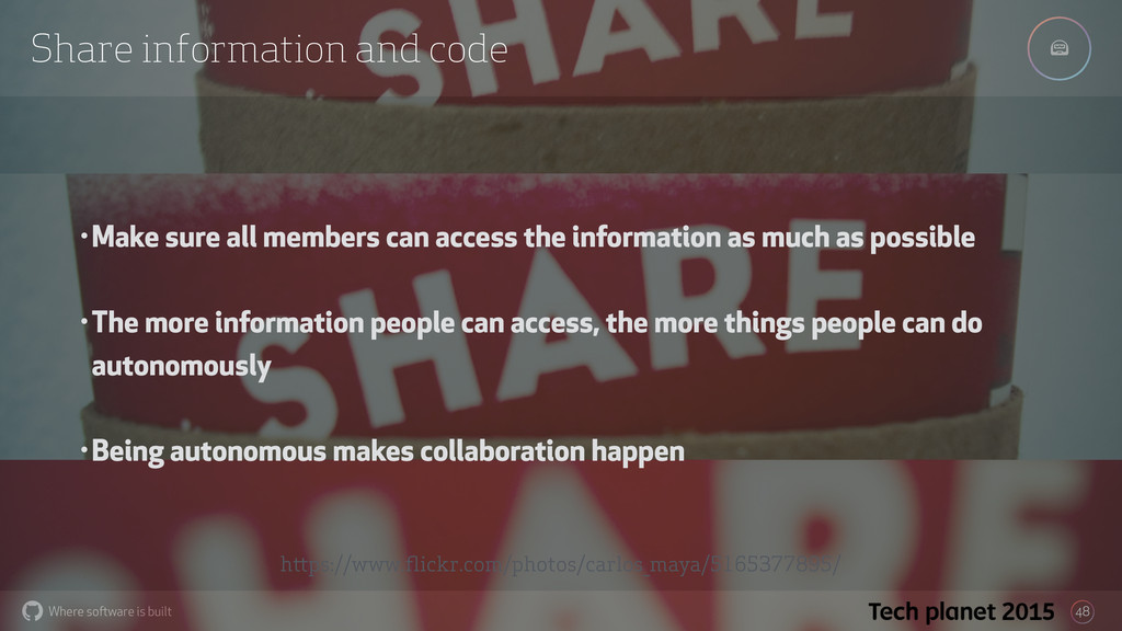 Where software is built % Share information and...
