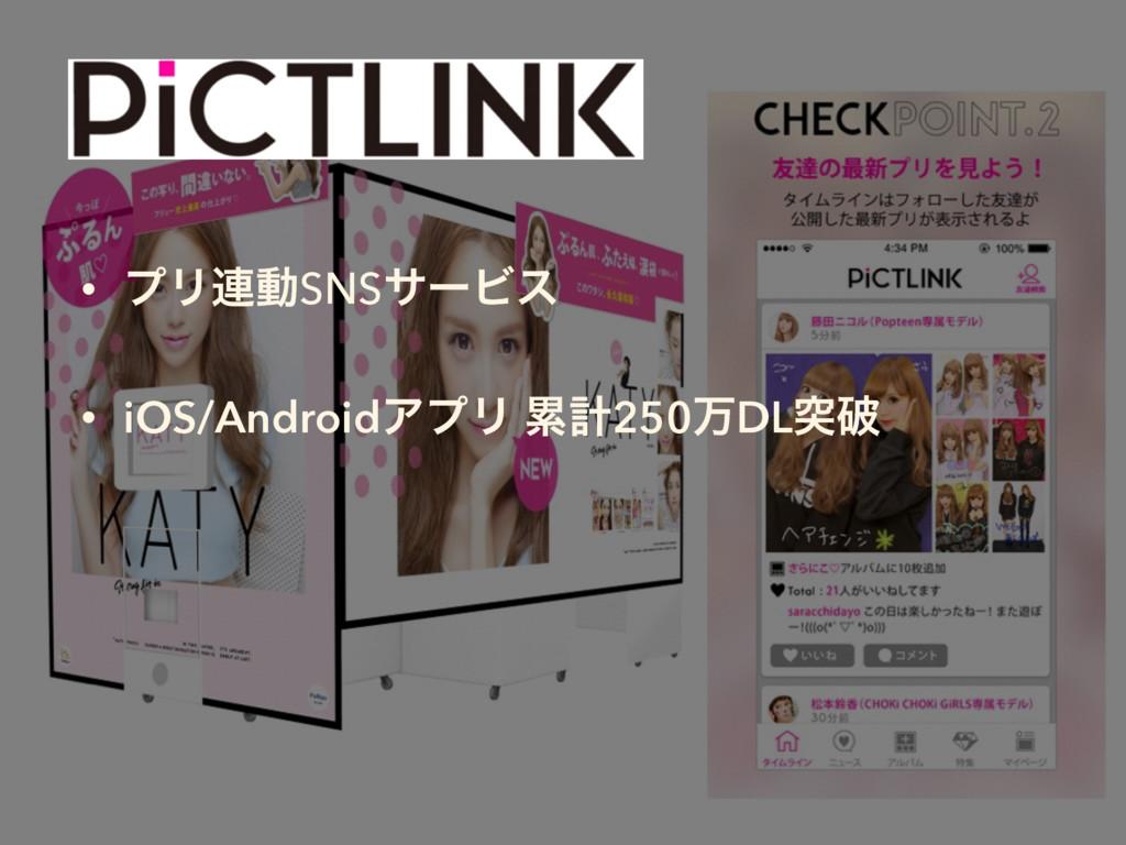 • ϓϦ࿈ಈSNSαʔϏε • iOS/AndroidΞϓϦ ྦྷܭ250ສDLಥഁ