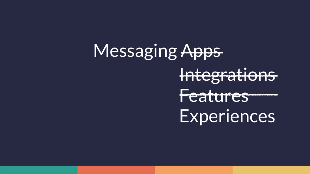 Messaging Apps Integrations Features Experiences